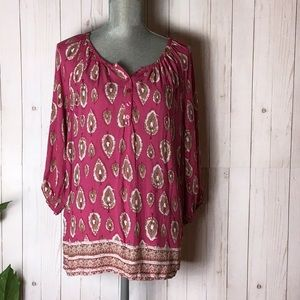 Lucy and Laurel Pink Pheasant Top
